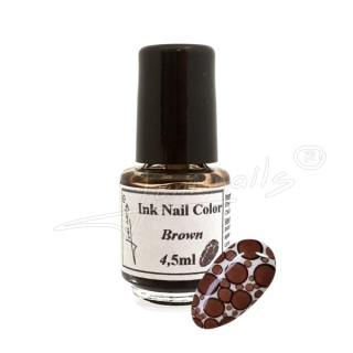 Ink Nail Color Brown 4,5ml